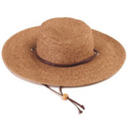 Principle Plastics 442DB01 Dark Brown Wide Brim Hat