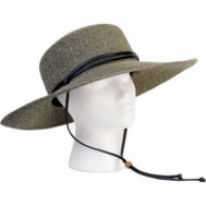 Principle Plastics 442SG Women's Black/White Wide Hat