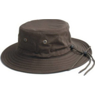 Principle Plastics 4471DB Dark Brown Mens Cotton Hat