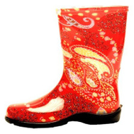 Principle Plastics 5004RD06 Sloggers WMNS SZ6 RED Tall Boot