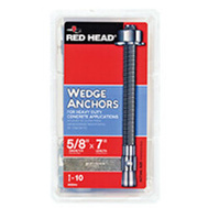 ITW Red Head 03044 Redhead Wedge Anchor 5/8X7 10P 10 Pack