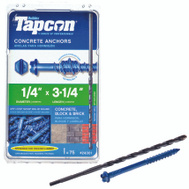Tapcon 24301 Anchor Cncrt Hwh 1/4 X 3-1/4In 75 Pack