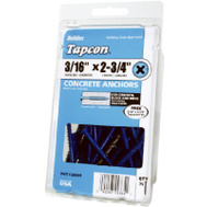 ITW Tapcon 24365 Screws 3/16 By 2 3/4 Phillips 75 Pack