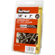 ITW Red Head 35300 50 Pack 1/4 By 1 Hammer Anchor
