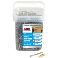 ITW GRK 61730 Screw Trm Hd 305Ss No8x2-1/2In 420 Pack