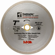 MK Diamond 167029 7 Inch Continuous Rim Wet Cutting Tile Blade