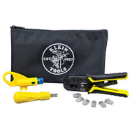 Klein Tools VDV026212 Data Cable Installion Kit In A Bag Strip Cut & Punch Down Modular Cables & Jacks