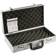 NATI 08479 Magnum Textured Aluminum Padded Pistol And Tool Case With Combination Locks