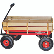 NATI 52178 Speedway Wagon Toy Big Red W/Wood Panel