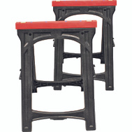 NATI 52229 Professional Woodworker 1 Pair Folding Sawhorses Holds 500 Pounds