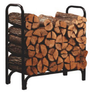 Panacea 15203 4 Foot Black Steel Deluxe Log Rack