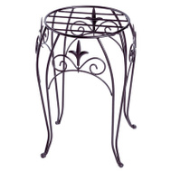 Panacea 89175 15 Inch Black Fin Plant Stand