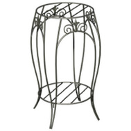 Panacea 89176 20 Inch Black Fin Plant Stand
