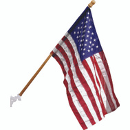 Valley Forge Flag AA99050 Wood Pole Kit With Poly Usa Flag
