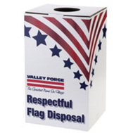 Valley Forge Flag BOXREC Box Flag Disposal 24in