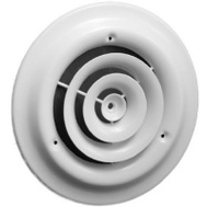 American Metal 1500W6-R 6 Inch White Round Ceiling Diffuser