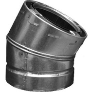 Continental Industries 6S30 6 Inch 30 Degree Galvanized Elbow