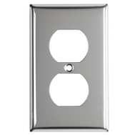 Mulberry Metals 83101 CHR 1G DPLX Wall Plate