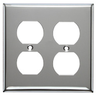Mulberry Metals 83102 CHR 2G DPLX Wall Plate
