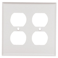 Mulberry Metals 86102 WHT 2G DPLX Wall Plate