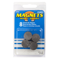 Master Magnetics 07003 3/4 Inch By 3/16 Inch Magnetic Ceramic Discs Pack Of 8