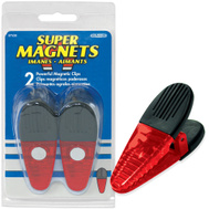 Master Magnetics 07520 Large Red Magnetic Clips Pack Of 2
