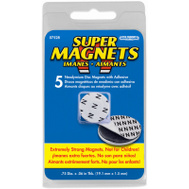 Master Magnetics 07528 Magn Disc/Adhesive 5 Piece