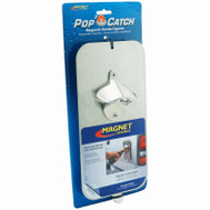 Master Magnetics 07681 Pop N Catch Magnetic Or Screw Mount Bottle Opener And Cap Catcher Brushed Stainless Steel