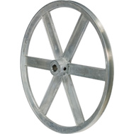 Chicago Die Casting 1200A 12 By 5/8 Inch Single V Grooved Pulley