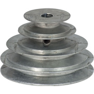 Chicago Die Casting 141 1/2 1/2 Inch Bore V Groove 4 Step Pulley