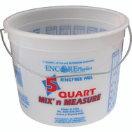 Encore 05166 Mix n Measure Paint Pail Plstc W Handle 5Qt
