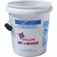 Encore 350001 Mix n Measure 5 Gallon Pail With Foam Grip Mix And Measure