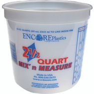 Encore 300344 Mix n Measure 2-1/2 Quart Calibrated Mixing Container No Lid