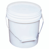 Encore 10128 1 Gallon White Plastic Paint Pails