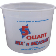 Encore 300403 Mix n Measure 5 Quart Calibrated Mixing Container No Lid