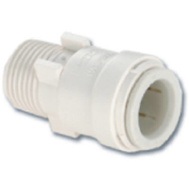 Watts Water 3501-0808/P-412 Quick Connect Push Fit Adapter 3/8Ctsx1/2Mpt