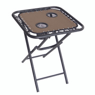 Seasonal Trends T5S18FR1BKOX64 Table Folding Bungee 18In Tan