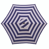 Seasonal Trends UM90BKOBD18/WT Umbrella Market 9ft Navy/White
