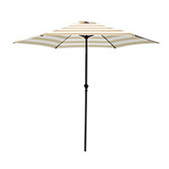 Seasonal Trends UM90BKOBD04/WT Umbrella Market 9ft Taupe/Wht