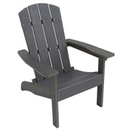 Seasonal Trends E8733QPW003 Chair Adirondack Resin Wd Gray