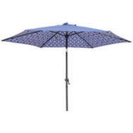 Seasonal Trends UM90BKOBD-73 Umbrella Stl Dbl Prnt Blu&Wht