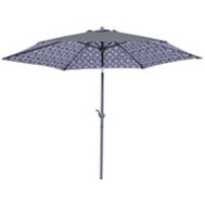 Seasonal Trends UM90BKOBD-79 Umbrella Stl Dbl Prnt Blk&Wht