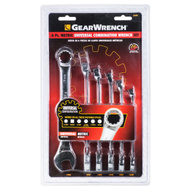 GearWrench 86001 6 Piece 10 - 17Mm Universal Metric Wrench Combination Set