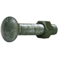 Midwest Air Technology 328503C 3/8 By 2 Inch Galvanized Carriage Bolt/Nut
