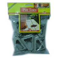 Bosmere Plant Stand PT-12LGHT 12 Pack 3 Inch Gray Pot Toes