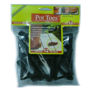 Bosmere Plant Stand PT-12BLHT 12 Pack 3 Inch Black Pot Toes