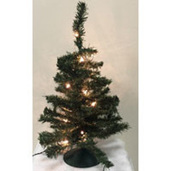 Santas Forest 07724 Pre-Lit Tillamook Fir Tree 24In