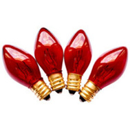 Santas Forest 19152 Replacement Bulbs C7 Trans Red 25Ct (Box Of 25)