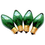 Santas Forest 19155 Bulbs Repl C7 Trans Grn 25ct