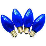 Santas Forest 19294 Replacement Bulbs C9 Trans Blue 4Pk
